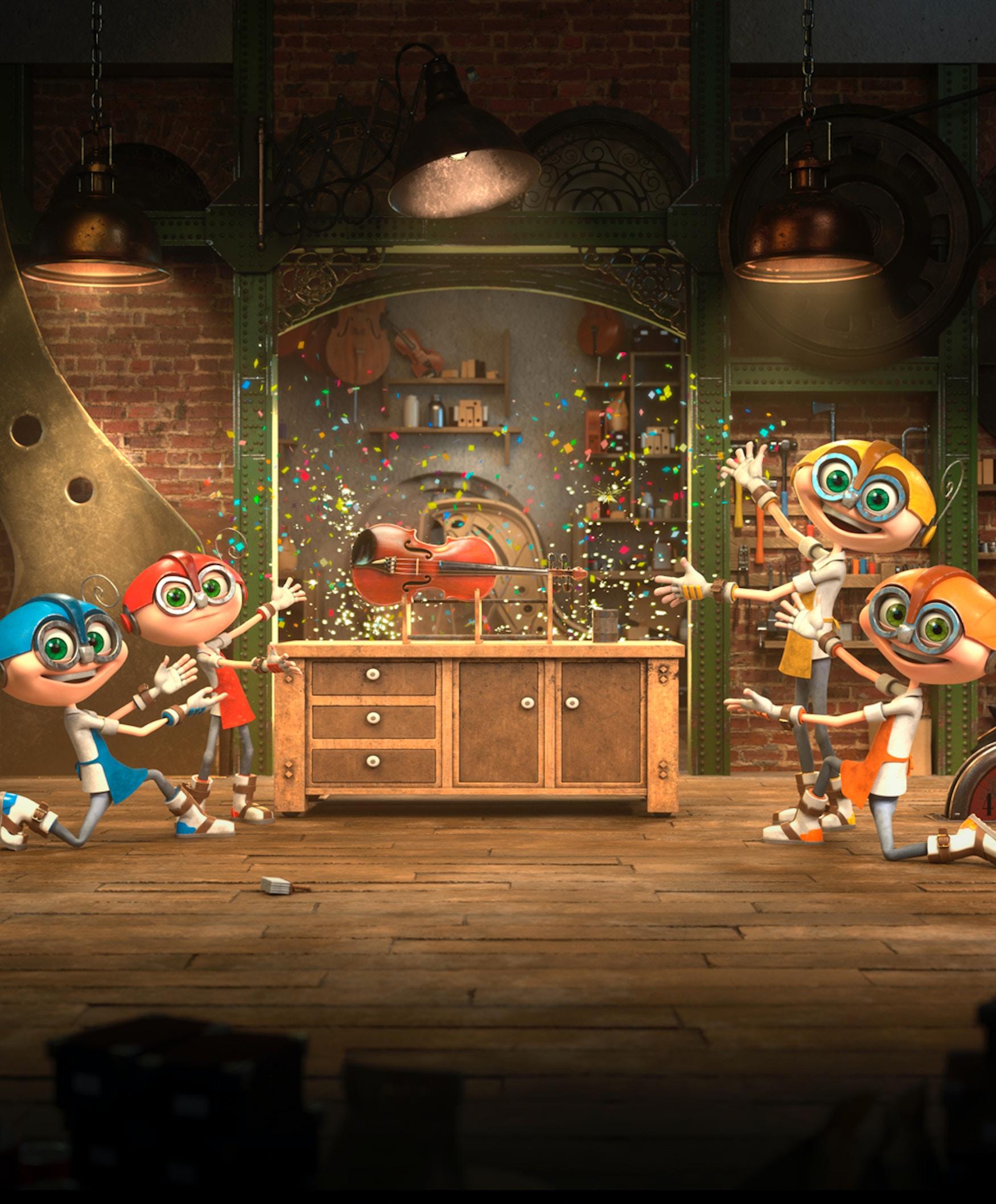 Bilde fra animasjonsdelen av Musikkfabrikken.