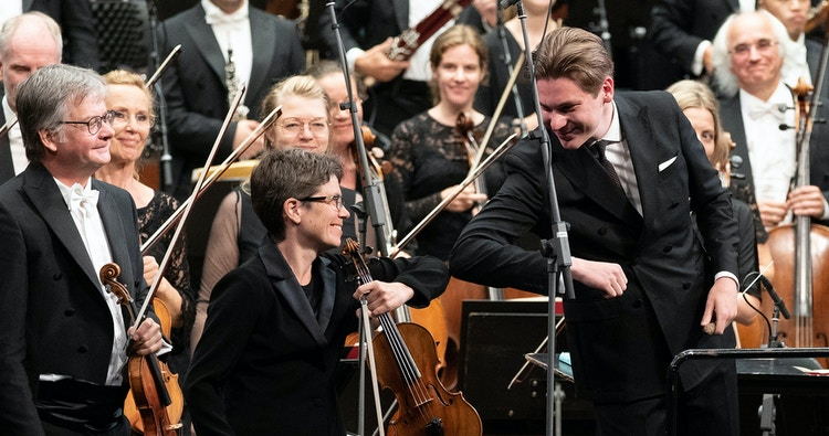 Elise Båtnes og Klaus Mäkelä