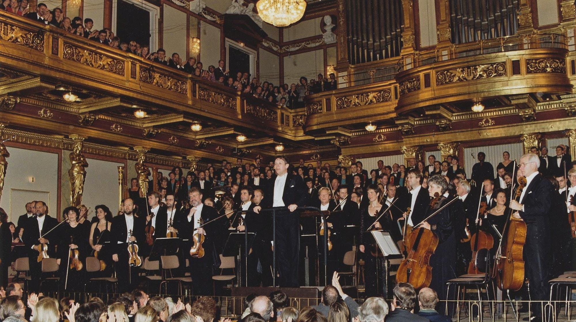 Oslo-Filharmonien og Mariss Jansons i Wiener Musikverein i 1997.